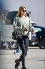ELIZABETH OLSEN Leaves a Gym in Los Angeles 01/23/2019