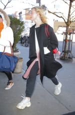 ELLE FANNING in Balenciaga Out in New York 01/11/2019