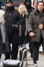 ELLE FANNING on the Set of Molly in Brooklyn 01/16/2019
