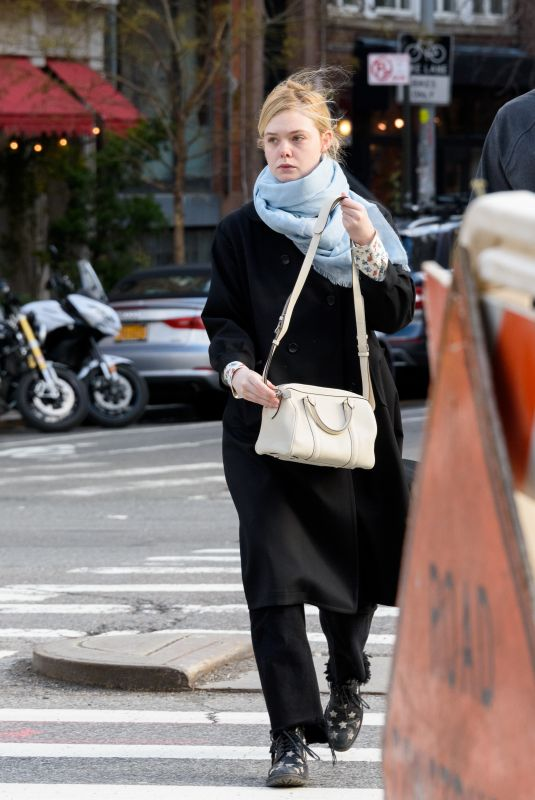 ELLE FANNING Out and About in New York 01/09/2019