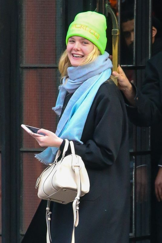 ELLE FANNING Out in New York 01/10/2019