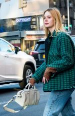 ELLE FANNING Out in New York 01/13/2019
