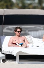 ELLIE GOULDING and Caspar Jopling at a Beach in Miami 01/21/2019