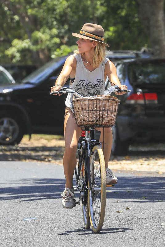 ELSA PATAKY Out Riding Her Bicycle in Byron Bay 01/08/2019