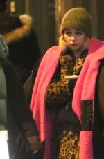EMILIA CLARKE on the Set of Last Christmas in East London 01/09/2019