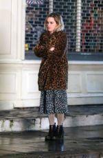 EMILIA CLARKE on the Set of Last Christmas in London 01/10/2019