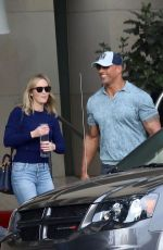 EMILY BLUNT and Dwayne Johnson Out in Burbank 01/29/2019