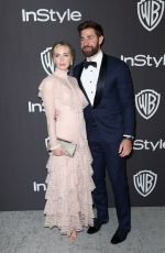 EMILY BLUNT at Instyle and Warner Bros Golden Globe Awards Afterparty in Beverly Hills 01/06/2019
