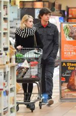 EMMA ROBERTS and Evan Peters Out Shopping in Los Angeles 01/17/2019
