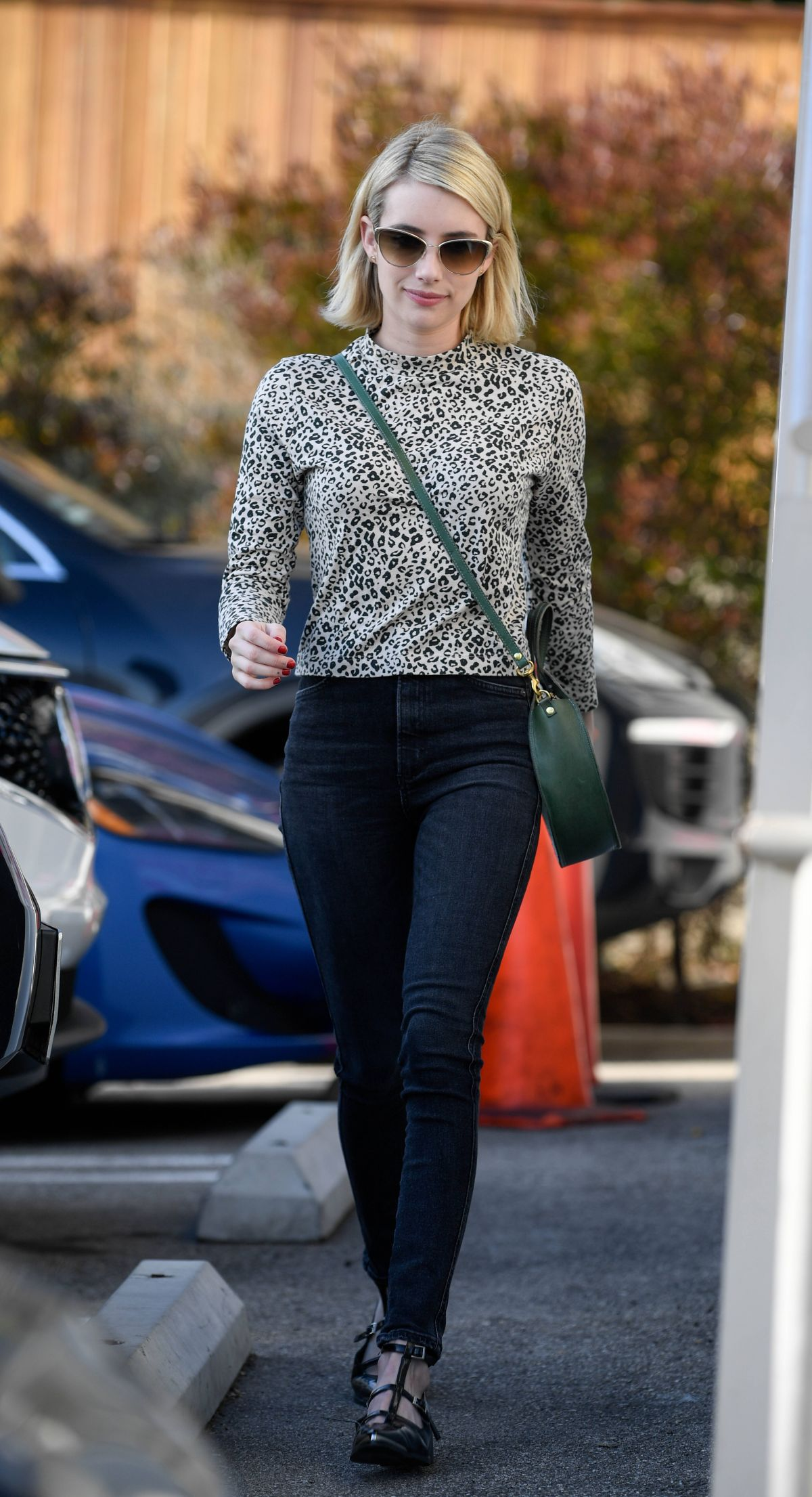 EMMA ROBERTS at a Film Company Office in West Hollywood 01 ...