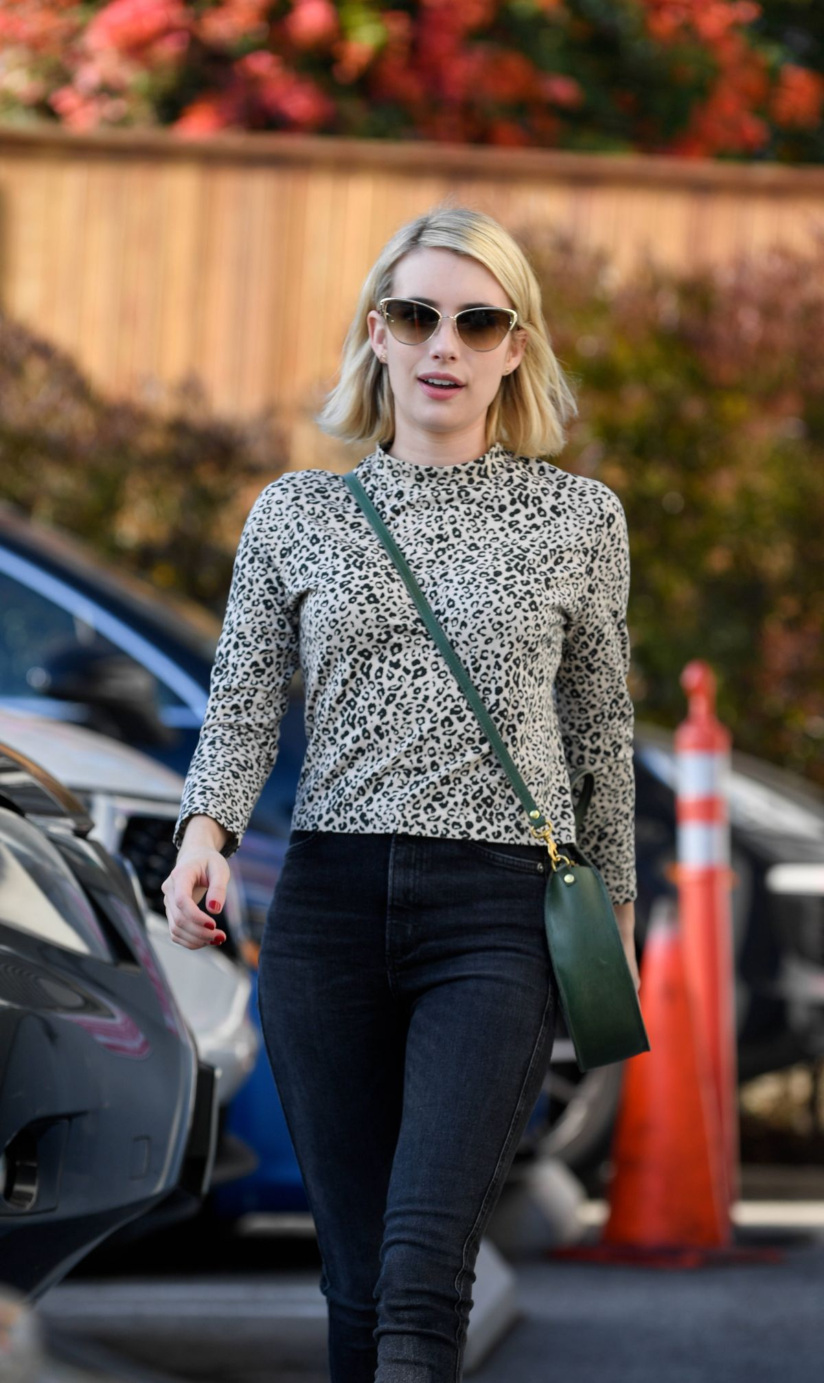 EMMA ROBERTS at a Film Company Office in West Hollywood 01/10/2019