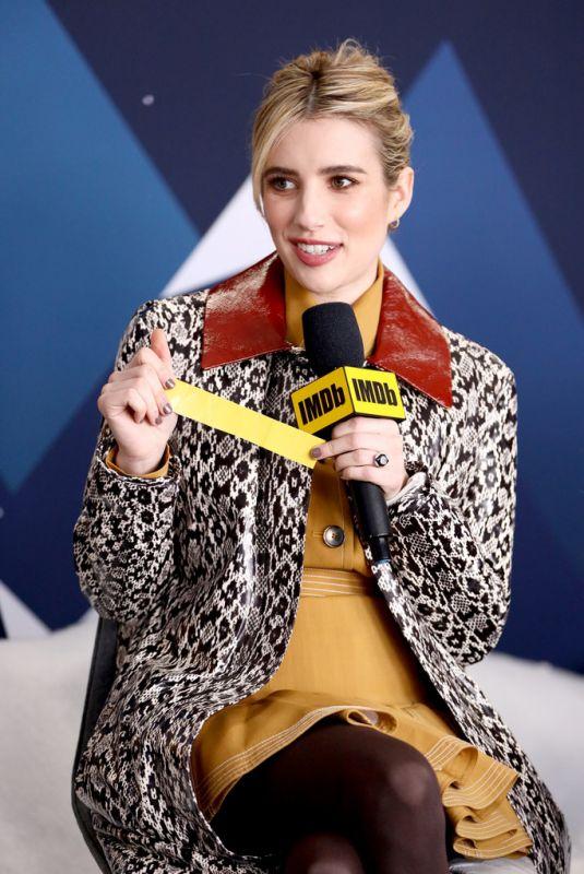 EMMA ROBERTS at Imdb Studio at 2019 Sundance Film Festival 01/26/2019