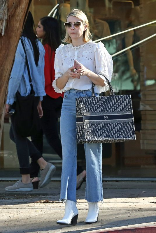 EMMA ROBERTS in Denim Out in West Hollywood 01/19/2019