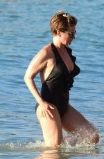 EMMA ROBERTS in Swimsuit on the Beach in Barbados 01/02/2019