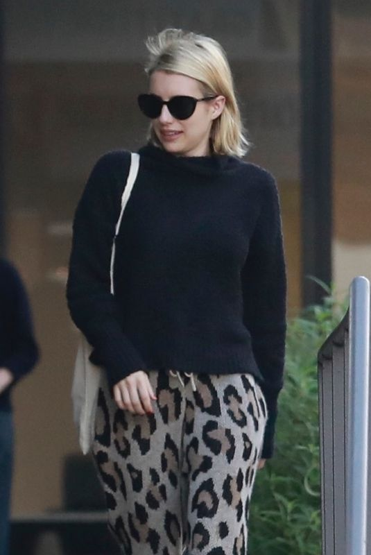 EMMA ROBERTS Out for Lunch at Cafe Gratitude in Los Angeles 01/07/2019