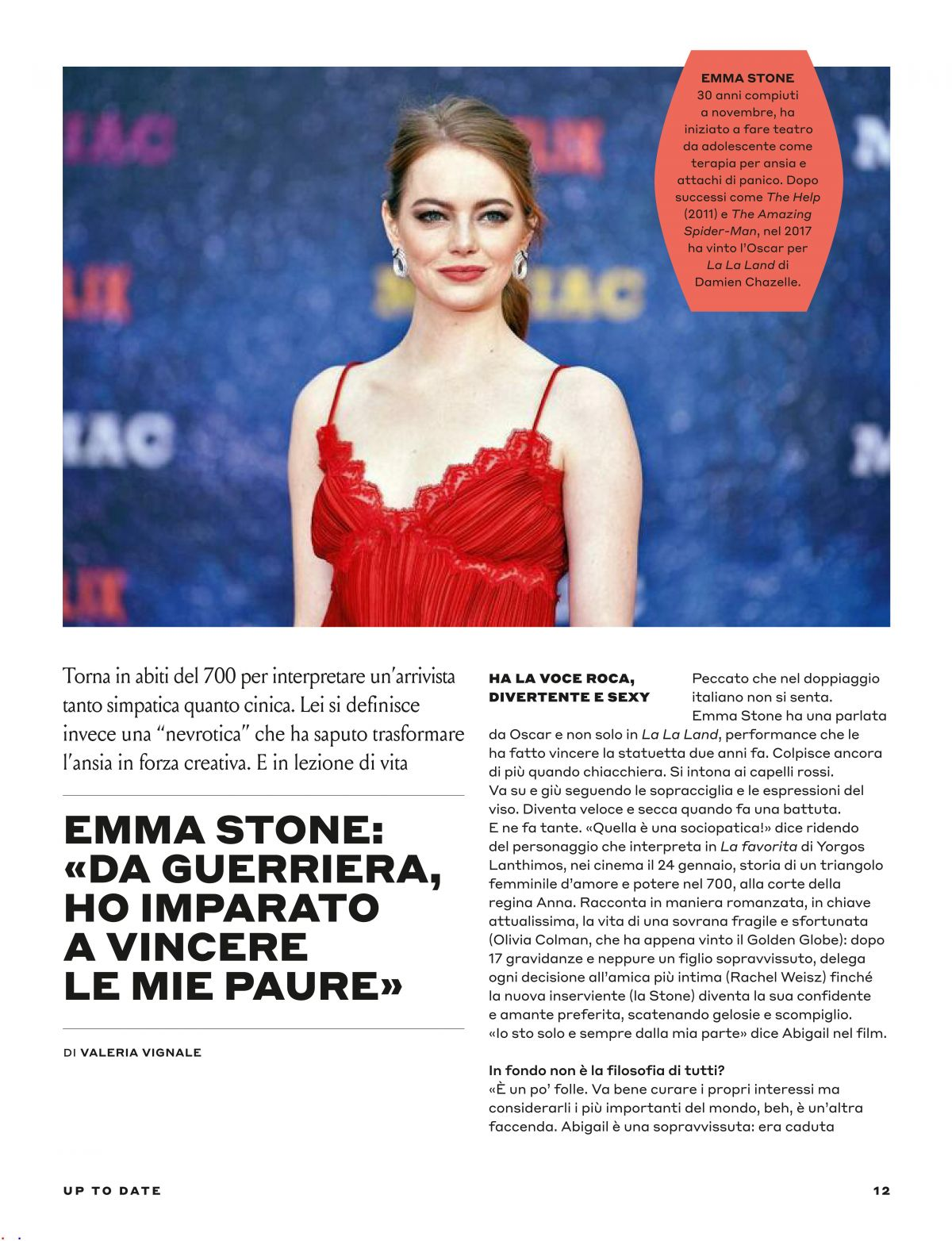 EMMA STONE In Tu Style, January 2019