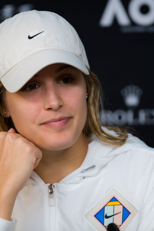 EUGENIE BOUCHARD at 2019 Australian Open Press Conference at Melbourne Park 01/17/2019