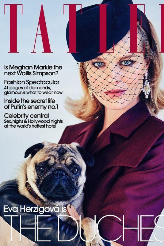 EVA HERZIGOVA in Tatler Magazine, March 2019 Issue
