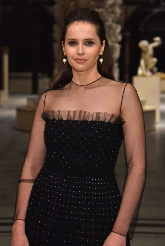 FELICITY JONES at Christian Dior: Designer of Dreams Exhibition in London 01/29/2019
