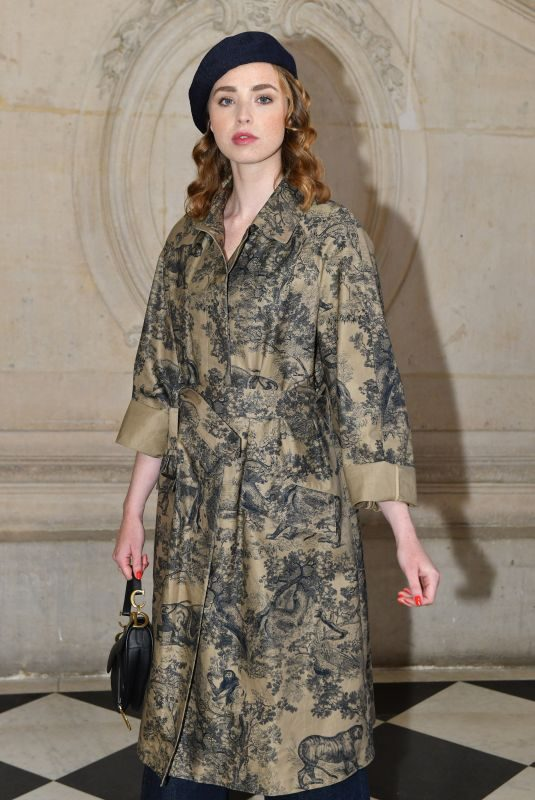 FREYA MAVOR at Christian Dior Show at Paris Fashion Week 01/21/2019