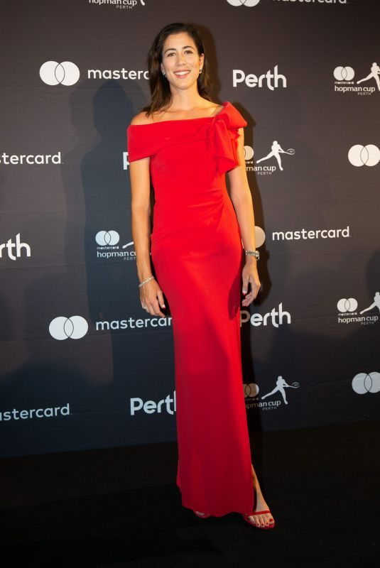 GARBINE MUGURUZA at Hopman Cup New Year's Eve Gala in Perth 12/31/2018