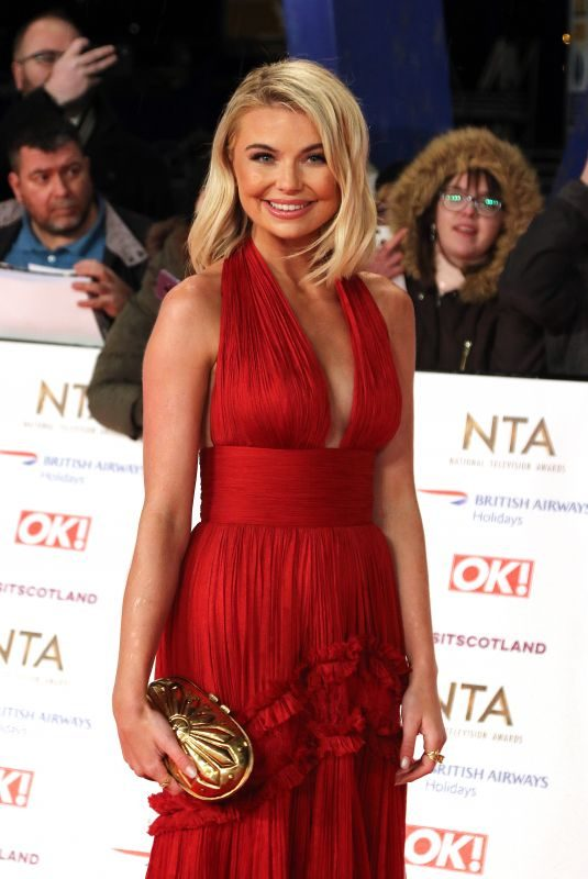GEORGIA TOFFOLO at 2019 National Television Awards in London 01/22/2019