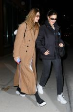 GIGI and BELLA HADID Out in New York 01/16/2019