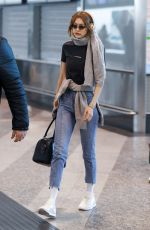 GIGI HADID Arrives at Airport in Milan 01/14/2019