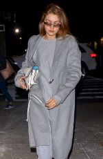 GIGI HADID Arrives at Her Apartment in New York 01/17/2019