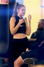 GIGI HADID at a Gym in New York 01/10/2019