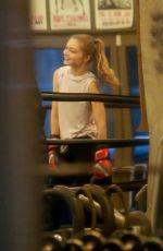 GIGI HADID at Gotham Gym in New York 01/18/2019