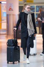 GIGI HADID at JFK Airport in New York 01/27/2019