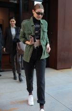 GIGI HADID Leaves Her Apartment in New York 01/09/2019