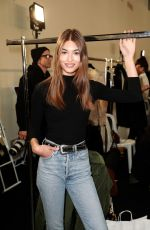 GRACE ELIZABETH on the Backstage at Alexandre Vauthier Fashion Show in Paris 01/22/2019