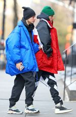 HAILEY and justin BIEBER Out for Lunch in New York 01/28/2019