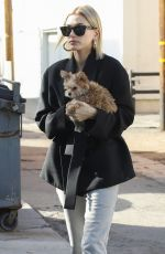 HAILEY BALDWIN at Alfred Tea Room in West Hollywood 01/24/2019