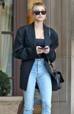 HAILEY BIEBER Leaves Her Hotel in Los Angeles 10/01/2019