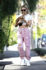 HAILEY BIEBER Out With Her Dog in Hollywood 01/24/2019