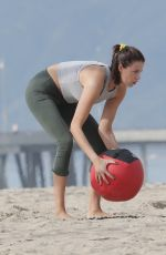 HAILEY CLAUSON Working Out at a Beach in Los Angeles 01/08/2019
