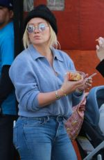 HILARY DUFF and Mike Cormie at Farmer