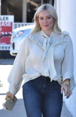 HILARY DUFF Leaves a Spa in Los Angeles 01/25/2019