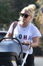 HILARY DUFF Out and About in Studio City 01/09/2019