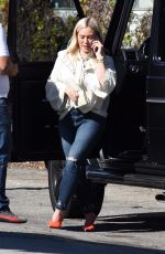 HILARY DUFF Out for Lunch at Petit Trois in Studio City 01/25/2019