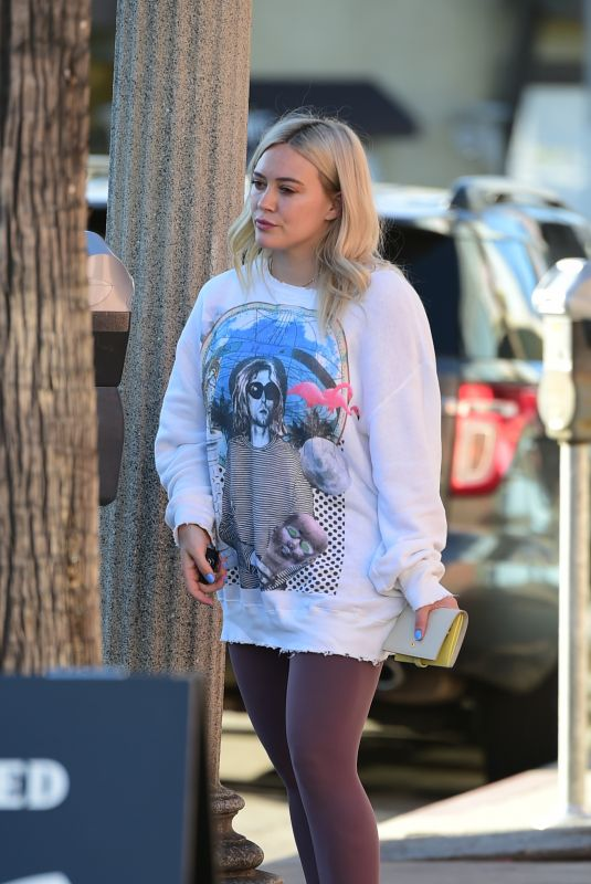 HILARY DUFF Out in Studio City 01/25/2019
