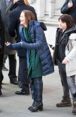 HOLLIDAY GRAINGER on the Set of The Capture in London 01/20/2019