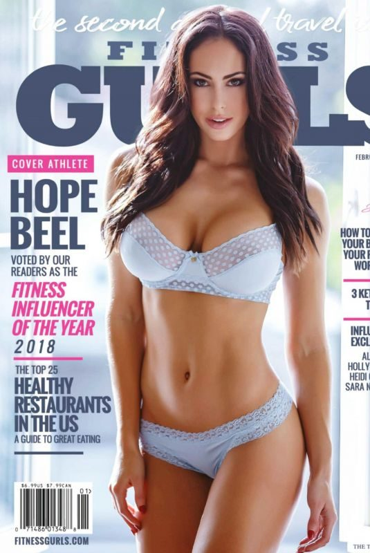 HOPE BEEL in Fitness Gurls Magazine, February 2019