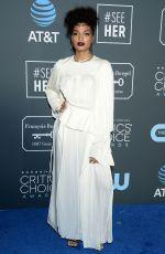 INDYA MOORE at 2019 Critics' Choice Awards in Santa Monica 01/13/2019