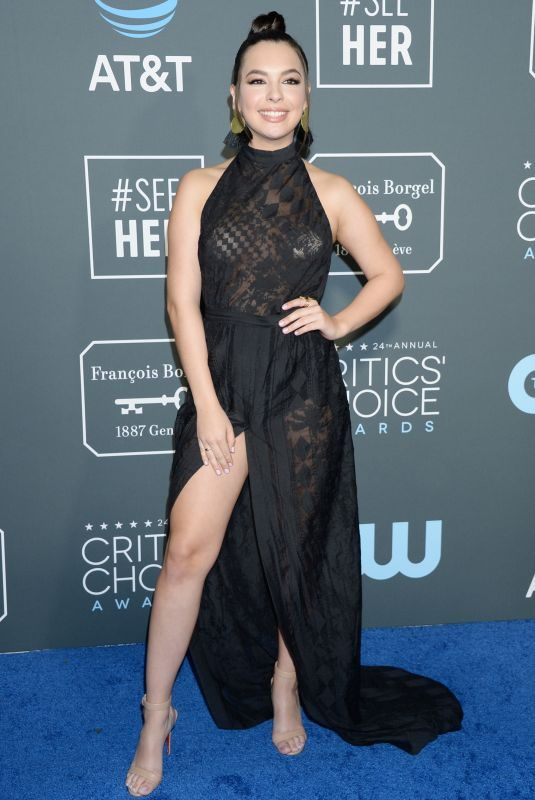 ISABELLA GOMEZ at 2019 Critics' Choice Awards in Santa Monica 01/13/2019