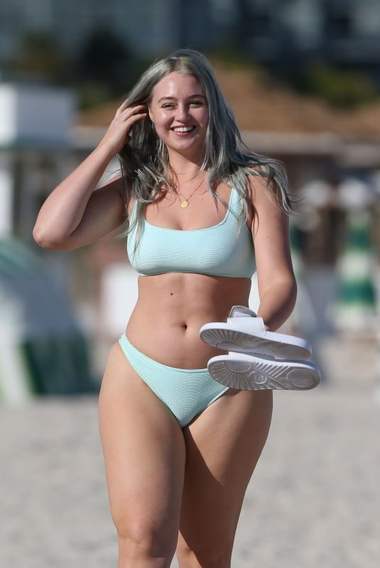 ISKRA LAWRENCE in Bikini at a Beach in Miami 01/28/2019