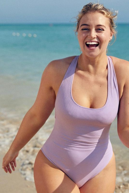 ISKRA LAWRENCE in Swimsuit on the Set of a Photoshoot, January 2019